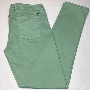 Lucky Brand Mint Green Charlie Skinny Jeans